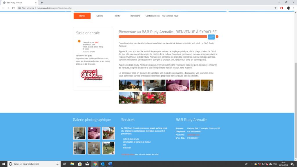 Site internet hôtel italien - français