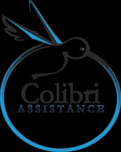 LE LOGO Colibri ASSISTANCE image bitmap véctorisee logo détaillé